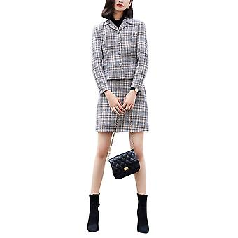 Silktaa Ladies Slim Fashion Striped Profession Small Suit Two-piece Suit