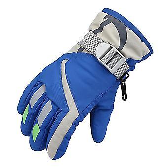 Ski Gloves,waterproof Kids Ski Gloves,snowmobile Cold Weather Gloves(Blue)