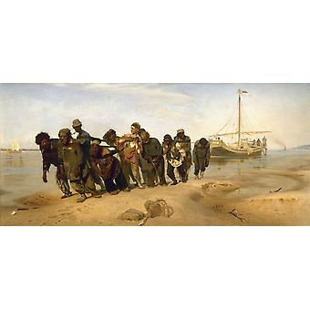 Barge Haulers On The Volga,ilya Repin Art Reproduction.realism Modern Hd Art Print Poster,canvas Prints Wall Art For Office Home Decor Pictures