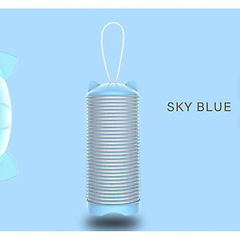 Tragbarer Haarlockenwickler USB wiederaufladbare elektrische Heizung Magic Roller Großer Griff Manuelles Haar (Blau)