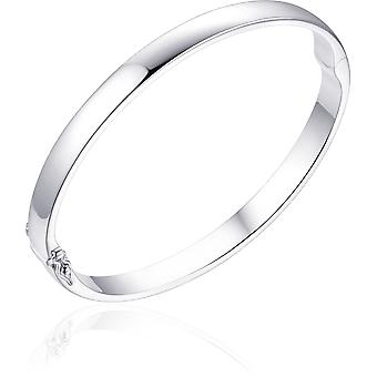 Gisser Jewels - Armband - Bangle Solid flat - 6mm Bred - Storlek 68 - Gerhodineerd Zilver 925