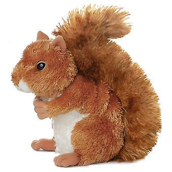 20 cm blød plys egern - nuttet legetøj