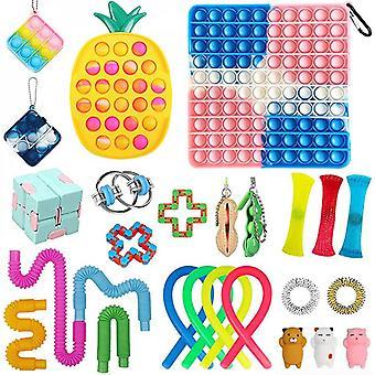 Fidget Toy Pack Sensory Fidget Toys Packs met eenvoudige dimple Fidget Packs voor kinderen volwassenen handspeelgoed