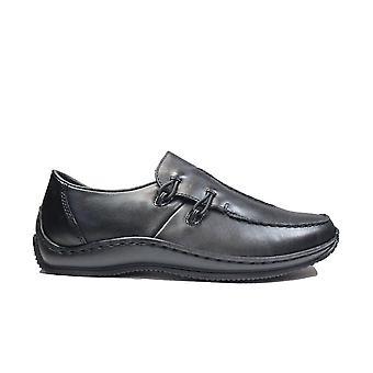 Rieker Celia L1751-00 piel negro mujeres Slip En Zapatos