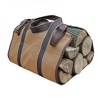 Evago Durable 2 Colors Fireplace Carrier Waxed Firewood Canvas Log Carrier Tote Bag Outdoor Log Tote Large Wood Carrying Bag With Handles Security Str