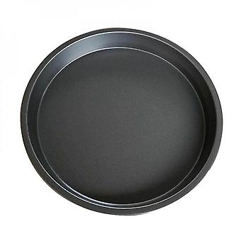 Non-stick Pizza Tray Carbon Steel Baking Round Oven Plate Pan Kitchen