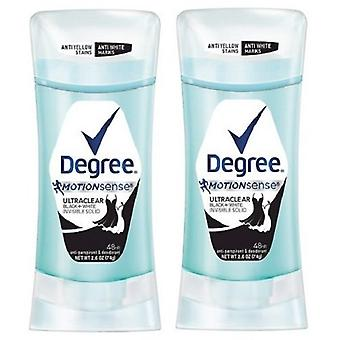 Degree Motionsense Ultra Clear Black + White Antiperspirant & Deodorant 2 Pack