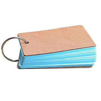 Portable Buckle Binder Notes Flash Cards Memo Pads Diy Blank Card Stationery