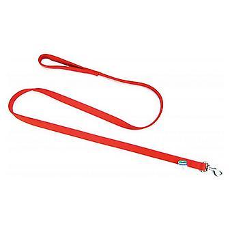 "Coastal Pet Double Nylon Lead - Red - 72"" Long x 1"" Wide"