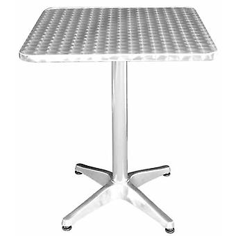 Jenn Outdoor Stainless Steel Square Bistro Table