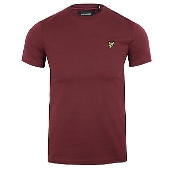 Lyle & scott men's merlot t-shirt