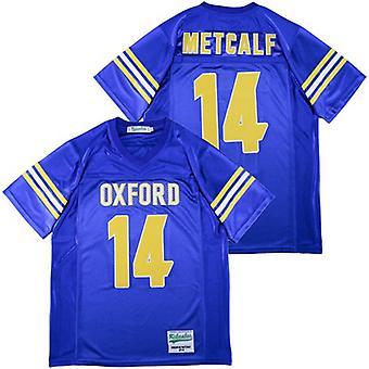 Mens Dk Metcalf Royal #14 High School Football Jersey Outdoor Sportswear, Stitched Movie Football Jerseys Sports Short Sleeve T-shirt Size S-xxxl