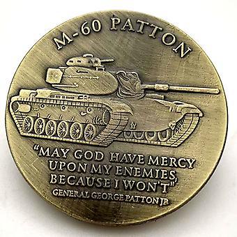 מטבע מלאכה עתיק מצופה זהב במטבעות מצופה זהב M60 אמריקאי