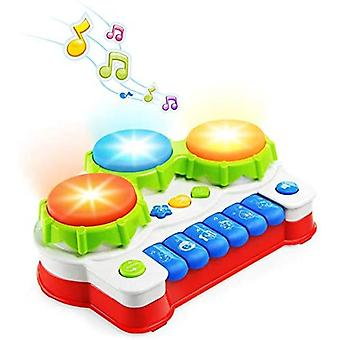 Piano And Drum With Lights Baby Toy