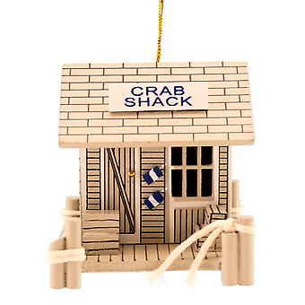 Beachcombers Wood Crab Shack Coastal 3 Inch Christmas Holiday Ornament