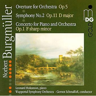 N. Burgmuller - Norbert Burgm Ller: Overture of Orchestr; Symphony No. 2; Concerto for Piano and Orchestra No. 1 [CD] USA import