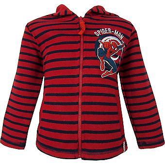 Boys Marvel Spiderman Full Zip Hooded Pullover NH1088