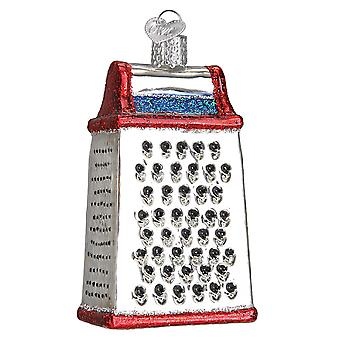 Old World Christmas Cheese Grater Kitchen Tool Holiday Ornament Blown Glass