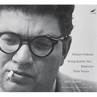Feldman / Flux Quartet - String Quartet No.1 / Three Pieces / Structures [CD] USA import