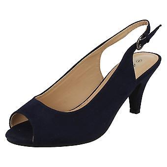 Damen Anne Michelle Peep Toe Sling wieder Schuhe F10593