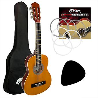 Tiger CLG2 3/4 Size Classical Spanish Guitar Beginners Complete