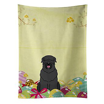 Carolines Treasures  BB6026KTWL Easter Eggs Black Russian Terrier Kitchen Towel