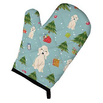 Carolines tesoros BB4751OVMT Navidad Bedlington Terrier Sandy horno Mitt