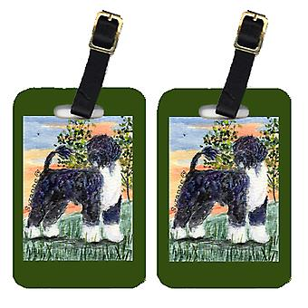 Carolines Treasures  SS8855BT Pair of 2 Portuguese Water Dog Luggage Tags