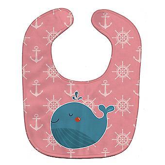 Каролинских сокровища BB7160BIB Кита на розовый морской ребенок нагрудник