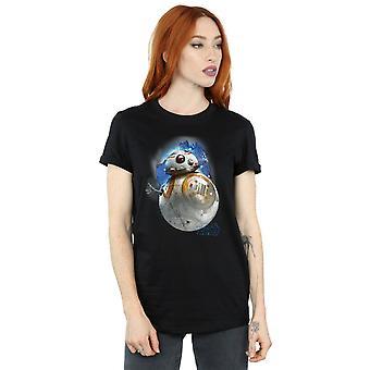 Star Wars Women's The Last Jedi BB-8 Brushed Boyfriend Fit T-Shirt