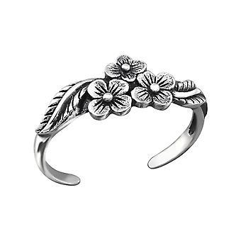 Λουλούδια-925 ασήμι στερλίνας δαχτυλίδια ποδιού-W27169X