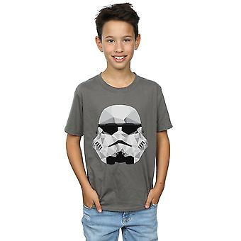 Star Wars Boys Stormtrooper Geometric Helmet T-Shirt