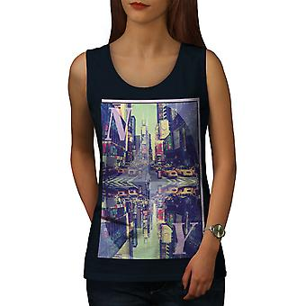 Zeit New York Frauen NavyTank Top Platz | Wellcoda