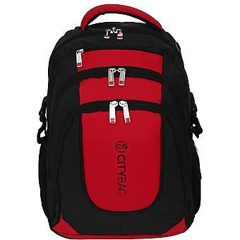Ciudad bolso Laptop mochila hombres 15,6 pulgadas negocios bolso viajero resistente al agua maleta de color negro
