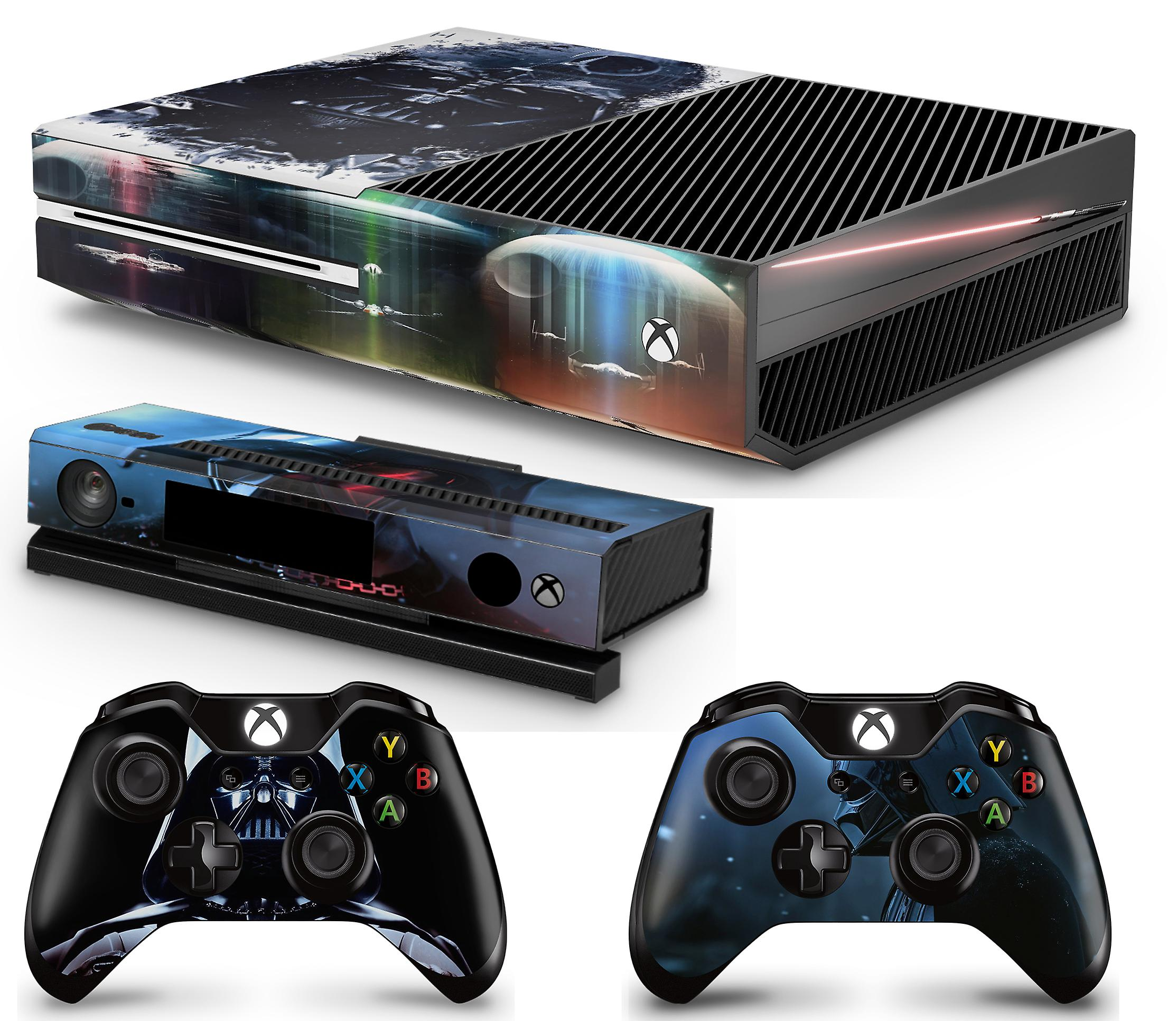 GNG Xbox One Console + 2 Controllers & Kinect Skin Vinyl Cover Decal Stickers