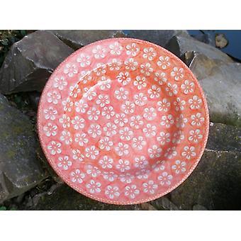 Sopa de placa, Ø 24 cm, altura 4 cm, 300 ml, Bolesławiec naranja, BSN m-4342