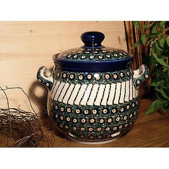 Hvitløk potten, 900 ml, høyde 15 cm, 1 - tradisjonell polsk keramikk - BSN 5280