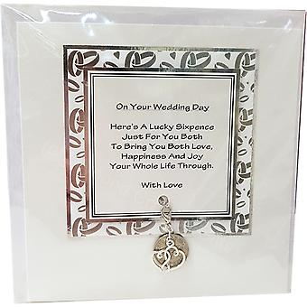 Sixpence Wedding Card by Craftilydunn