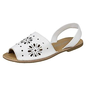 Ladies Leather Collection Flower Design Mules F00144 - Navy Leather - UK Size 6 - EU Size 39 - US Size 8