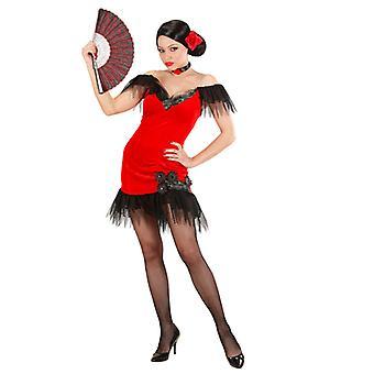 Spansk skönhet röd kostym
