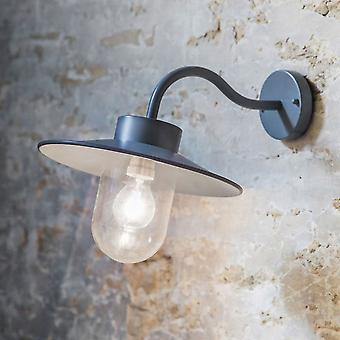 Garden Trading St Ives Swan Neck Exterior Wall Light In Charcoal