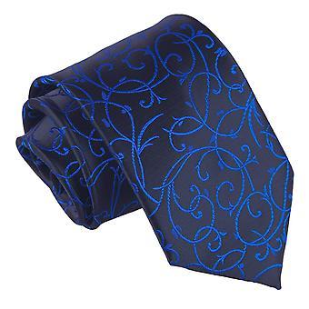 Sort &og Blå Swirl Klassisk Slips