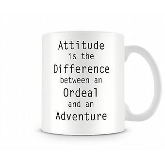 Houding verschil beproeving avontuur bedrukte mok