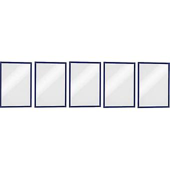 Durable 486907 DURAFRAME MAGNETIC A4 - 4869 Magnetic frame A4 Blue (W x H) 238 mm x 324 mm 5 pc(s)
