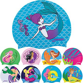 FINIS Kid's Mermaid Collection Silicone Swim Cap