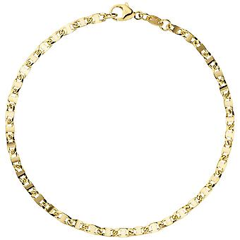 Bracelet 585 gold yellow gold 19 cm bracelet gold lobster