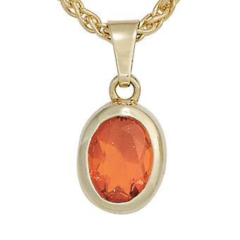Zawieszki Opal zawieszka 585 złota żółtego złota 1 fire opal czerwone