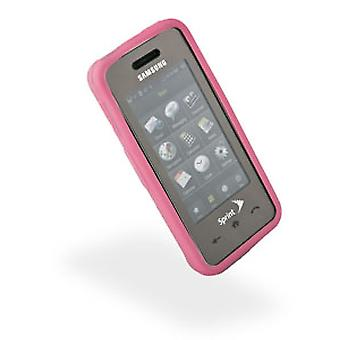 Wireless Inc. Mobile Rubberized Skin for Samsung Instict M800/Delve R800 - Pink