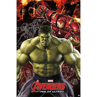 Marvel Мстители 2 возраст Ultron - Халк Плакат Печать