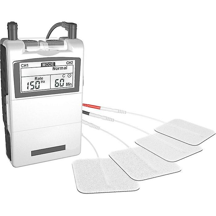 Med-fit Dual Channel TENS machine & Spierstimulator met 24 ingebouwde Programma's-nu met 12 elektroden